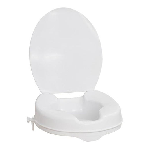 Elongated Raised Toilet Seat with Lid - Home Health Store Inc