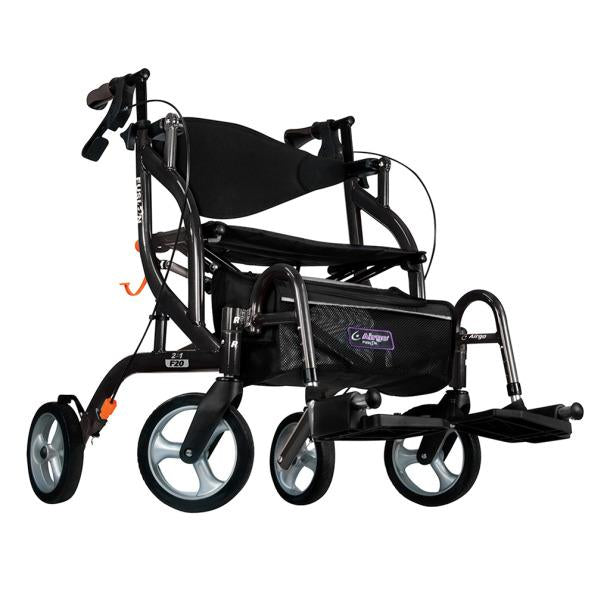Airgo Fusion F20 Side-Folding Rollator and Transport Chair - Home Health Store Inc