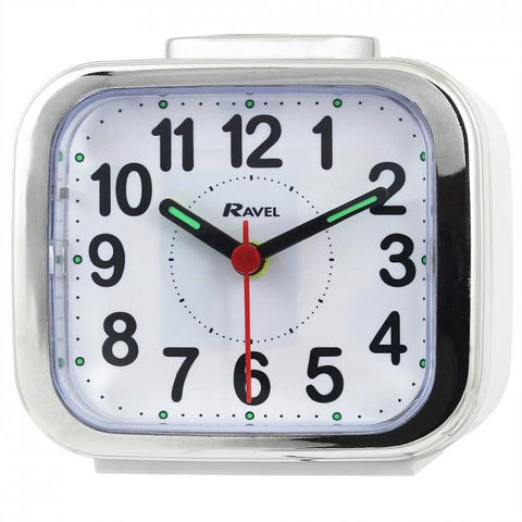 Ravel Quartz Chrome Edged Alarm Clock RC027
