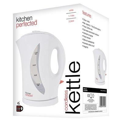 KitchenPerfected 2Kw 1.7Ltr Cordless Kettle - White E1524WH