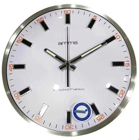 "AL9785BT AMMS 12"" SLIM METAL WALL CLOCK"