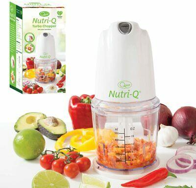 Nutri-Q by Quest Mini Food Chopper with 0.5L Bowl, 2 Speeds with Turbo Boost, Mini Food Processor for Vegetables, Onion, and Salad - 260W