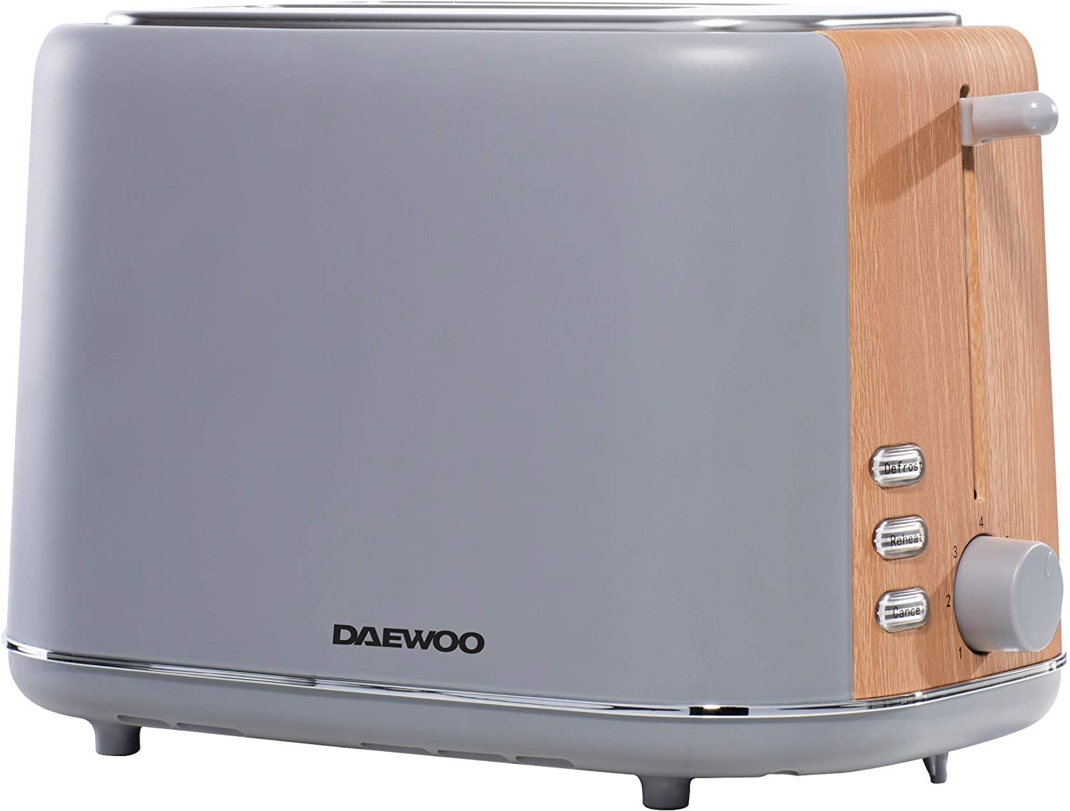 Daewoo Stockholm 2 Slice Toaster with Wood Effect - Grey SDA1737