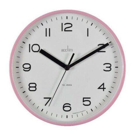 ACCTIM RUNWELL WALL CLOCK PINK