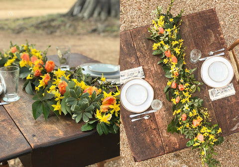 Theology of Home Floral Garland Tutorial Steps 9-10