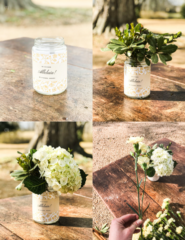 Theology of Home Floral Tutorial Grid Steps 1-4