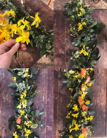 Theology of Home Floral Garland Tutorial Steps 5-8