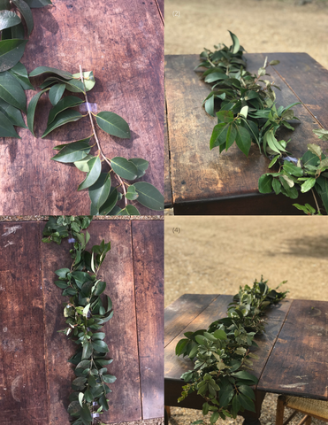 Theology of Home Floral Garland Tutorial Steps 1-4