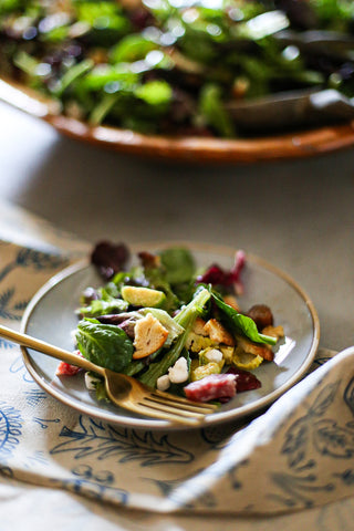 Theology of Home Date Goat Cheese Salami Salad