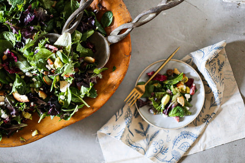 Theology of Home Goat Cheese Date and Salami Salad