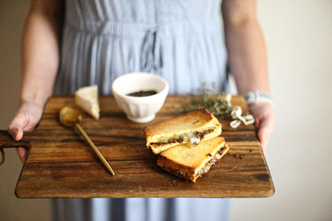 theology of home grown up grilled cheese brie fig shallot