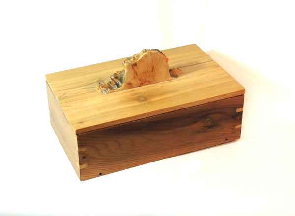 Custom Crafted Wood Box with Burl Handle