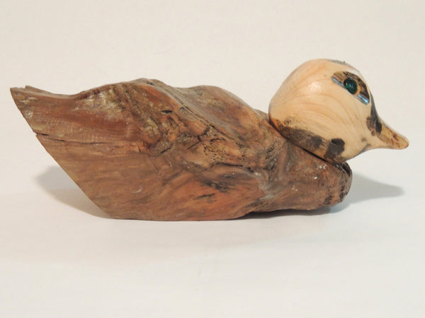 "Carved Wood Duck ""Beth"""