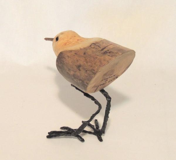 "Carved Wood Bird ""Sandy"""
