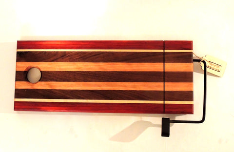 Long Hardwood Wire Cheese Cutting Board