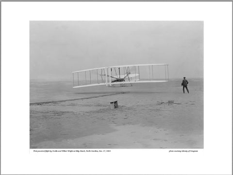 Wright Bros at Kitty Hawk 1903