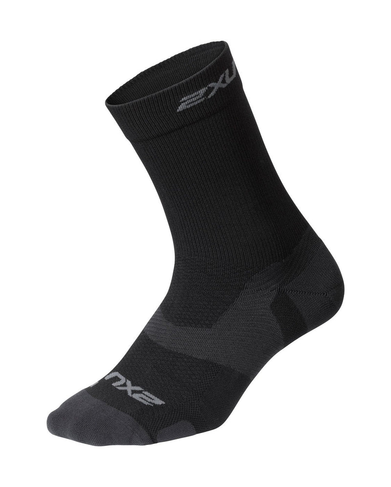 VECTR Light Cushion Crew Socks Unisex Black