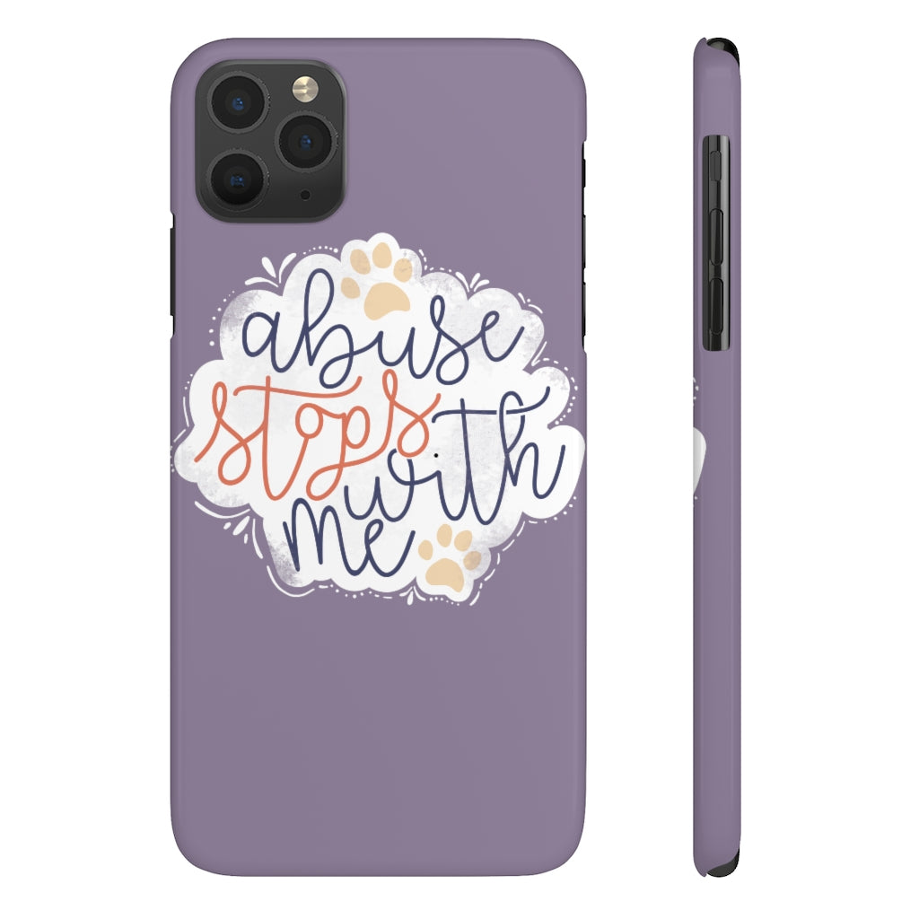 Animal Abuse Stops With Me Case Mate Slim Case