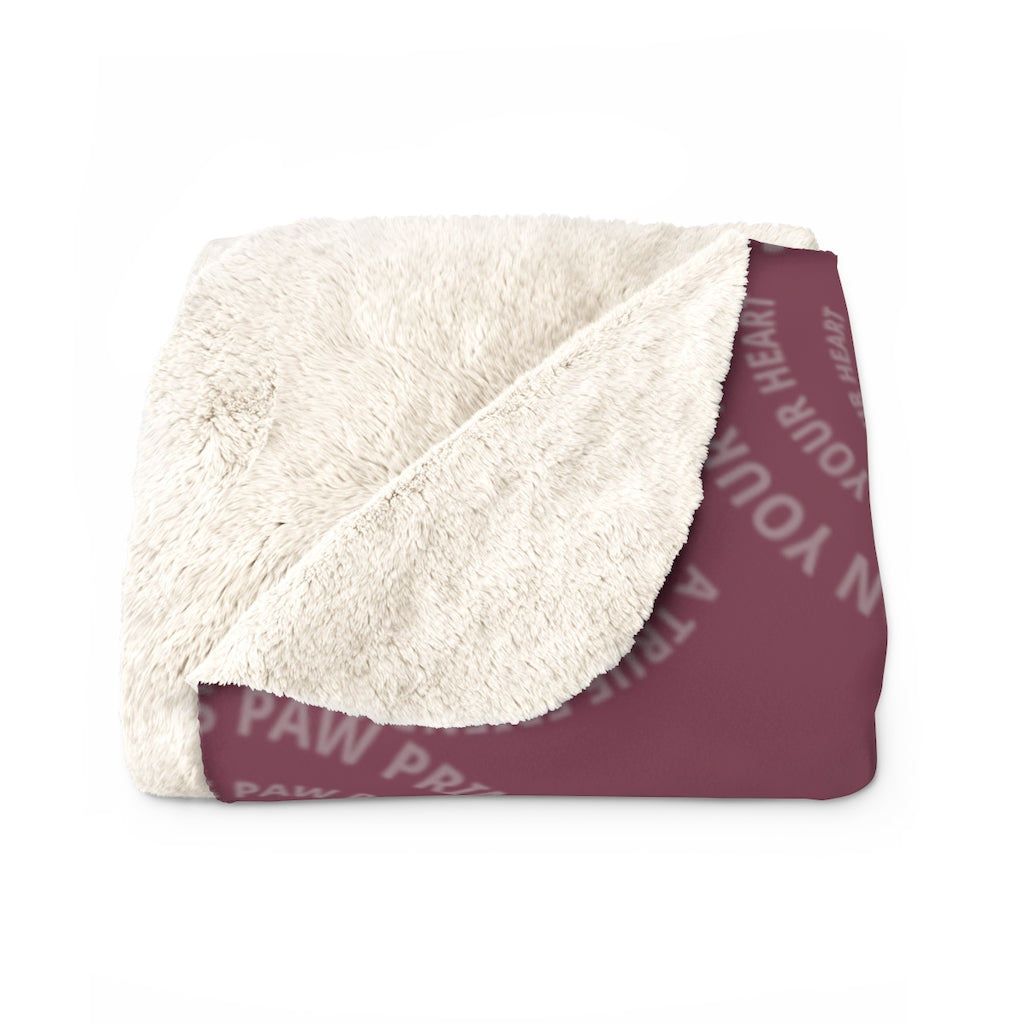 Save Chickie Sherpa Fleece Blanket