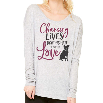 Changing Lives - Women's Slouchy Long Sleeve