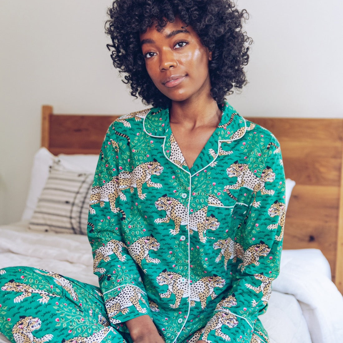 Printfresh Bagheera Leopard Print Long Sleeve Pajama set