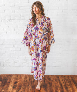 Printfresh Royal Palms Robe - Amethyst