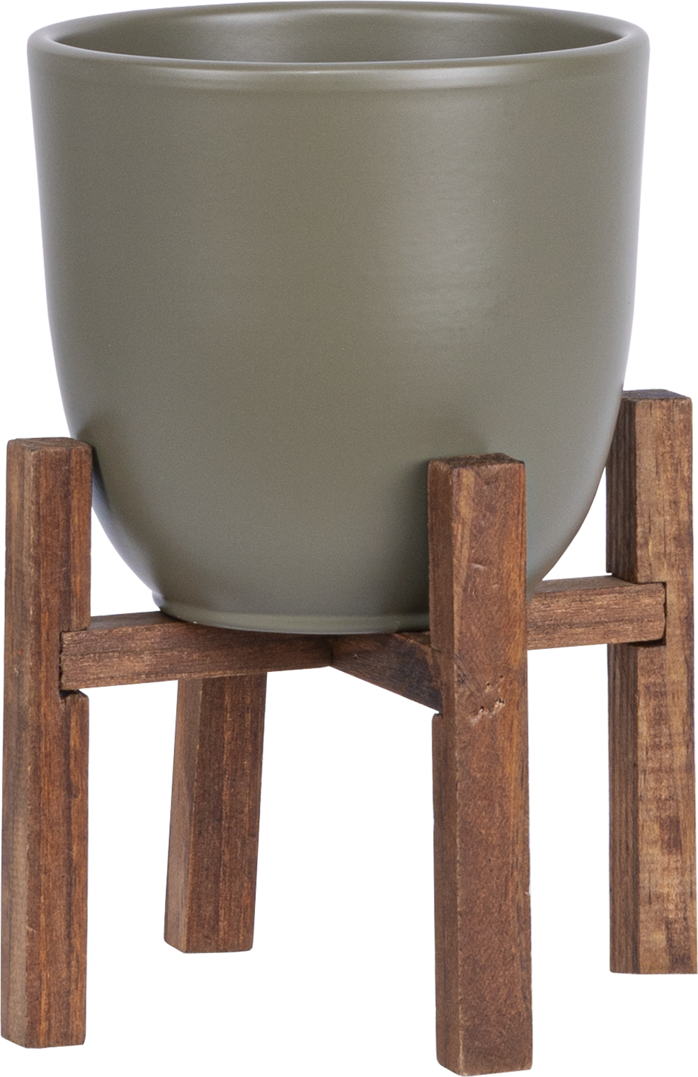 Boule on Wood Stand (12cm   Fits 4 inch)