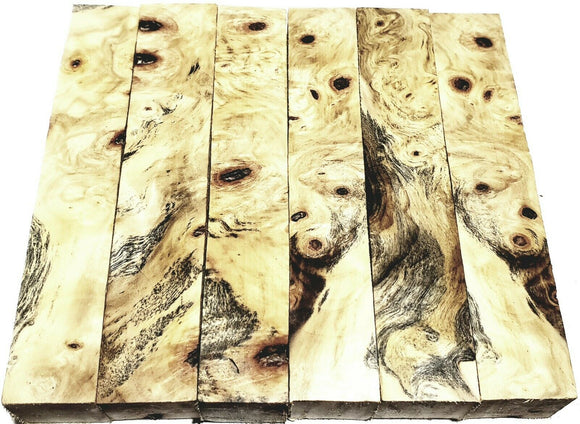 Yellow Buckeye Burl Pen Blanks