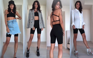 How to Style Sustainable Bike Shorts by Caroline Pigat