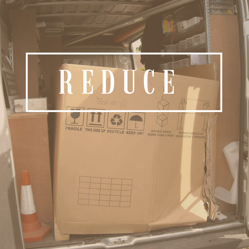 Reduce cardboard box waste