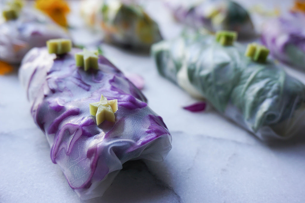 Vegan Salad Rolls with an Adaptogenic Dipping Sauce