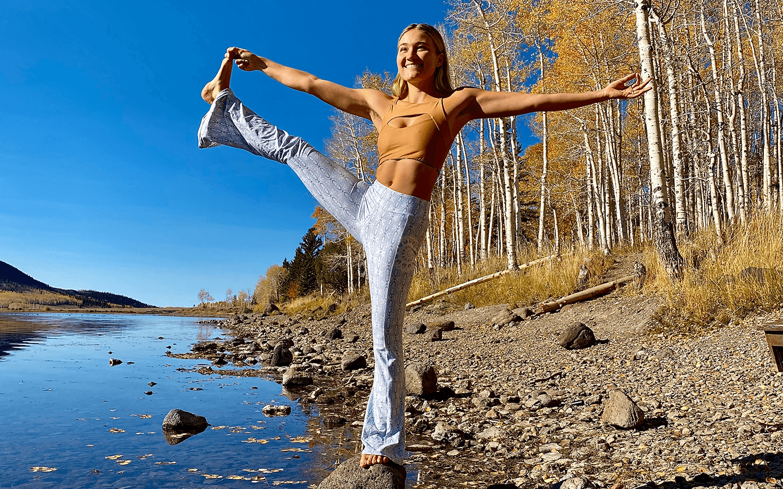 Wolven Sustainable Active and Swim wear yoga photographer Margo interview