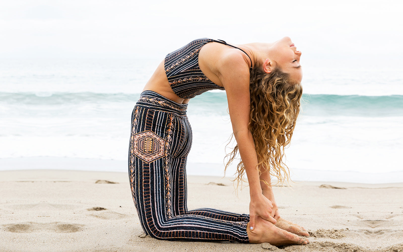 Wolven sustainable activewear world oceans month day eco friendly yoga pants