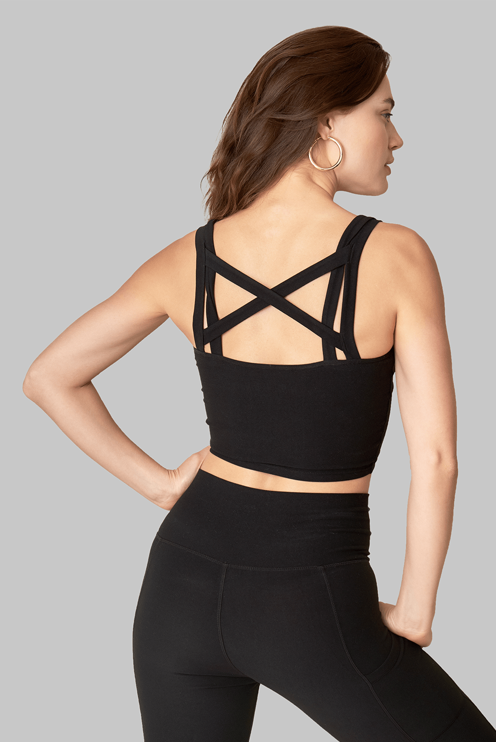 Onyx Double Cross Top