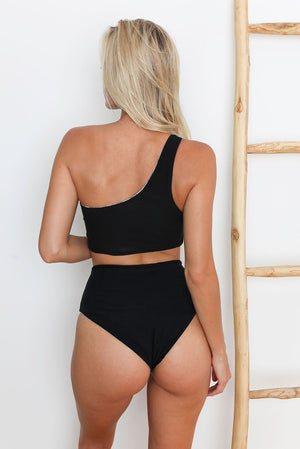Oasis Reversible High-Waisted Bikini Bottom