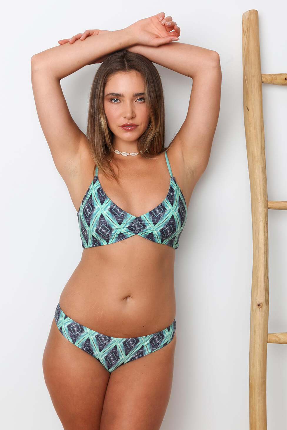 Jungle Ruched Hipster Bikini Bottom