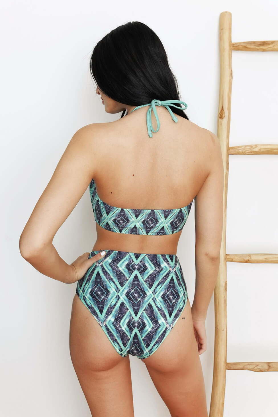 Jungle Reversible High-Waisted Bikini Bottom