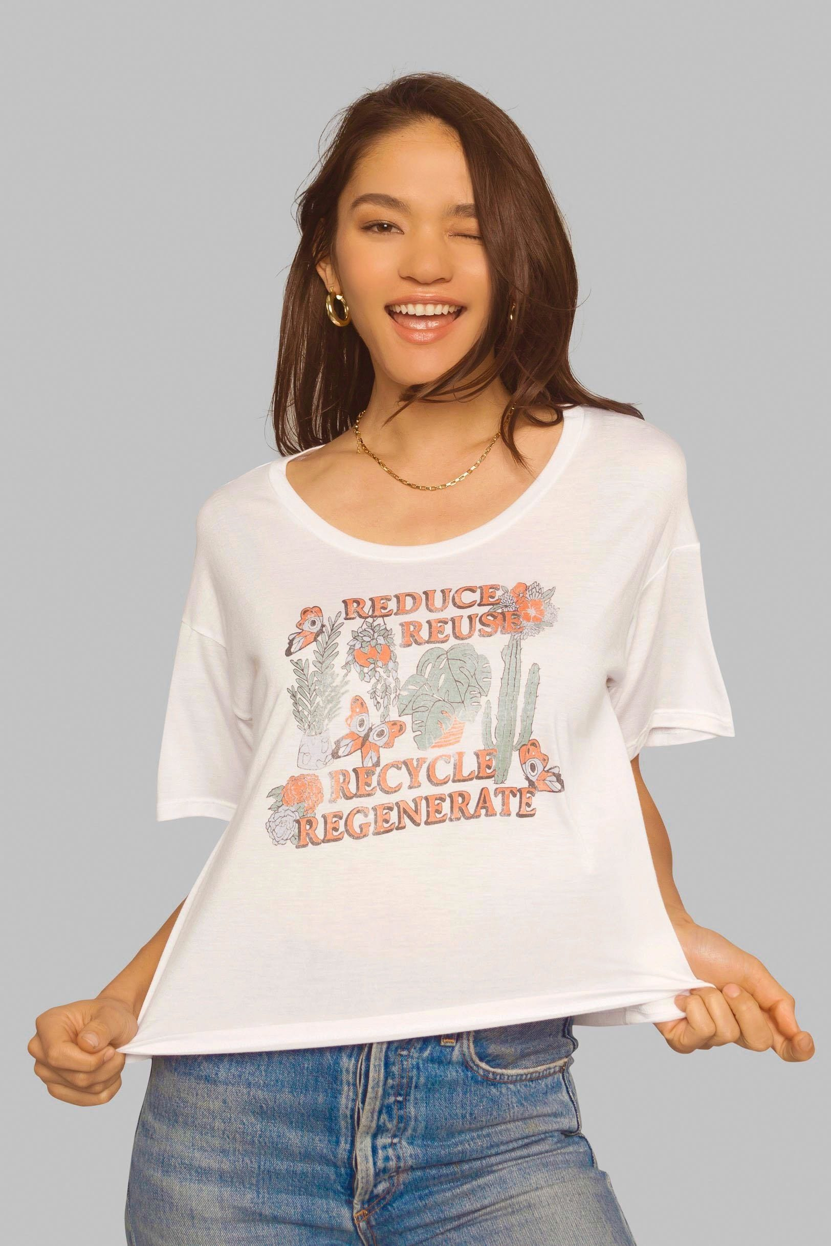 Reduce Reuse Recycle Regenerate Tee