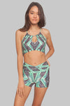 Jungle Helix Crossover High-Waisted Short