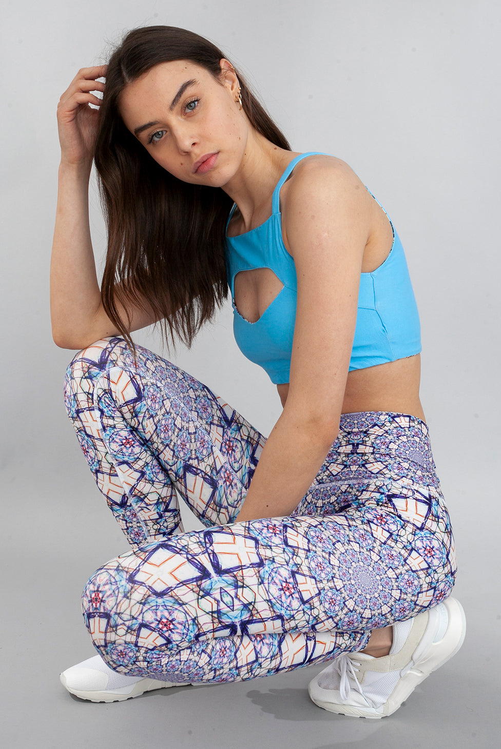 Wolven Mandala Legging White Light Blue Activewear