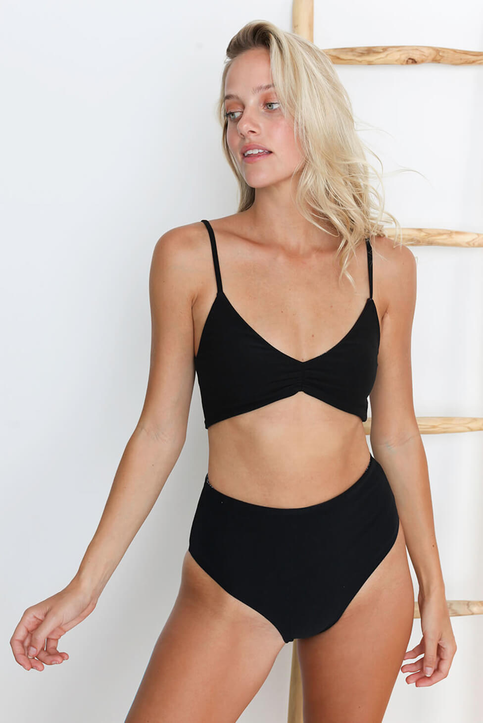 Luna Reversible High-Waisted Bikini Bottom