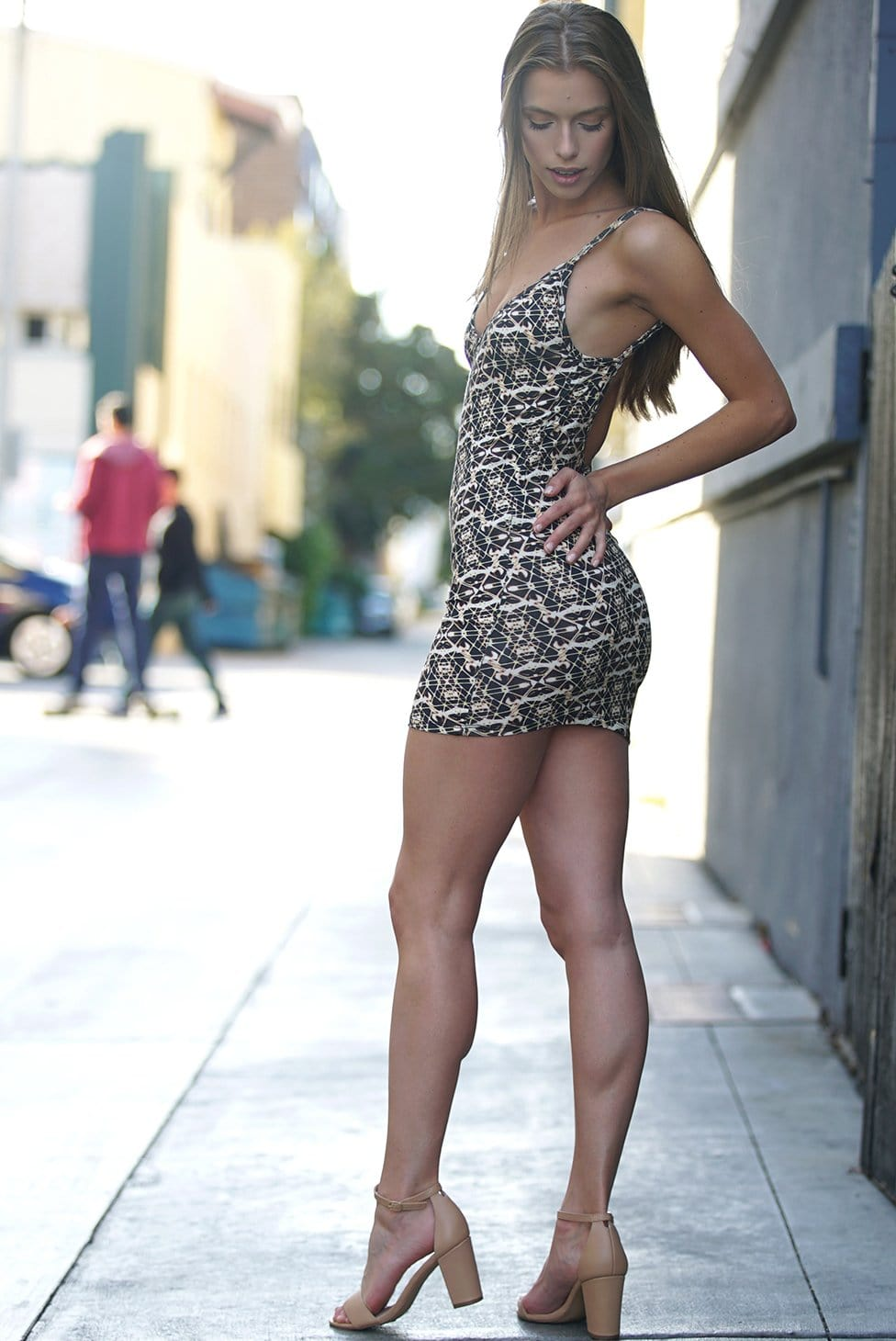 Bali Gold Mini Dress