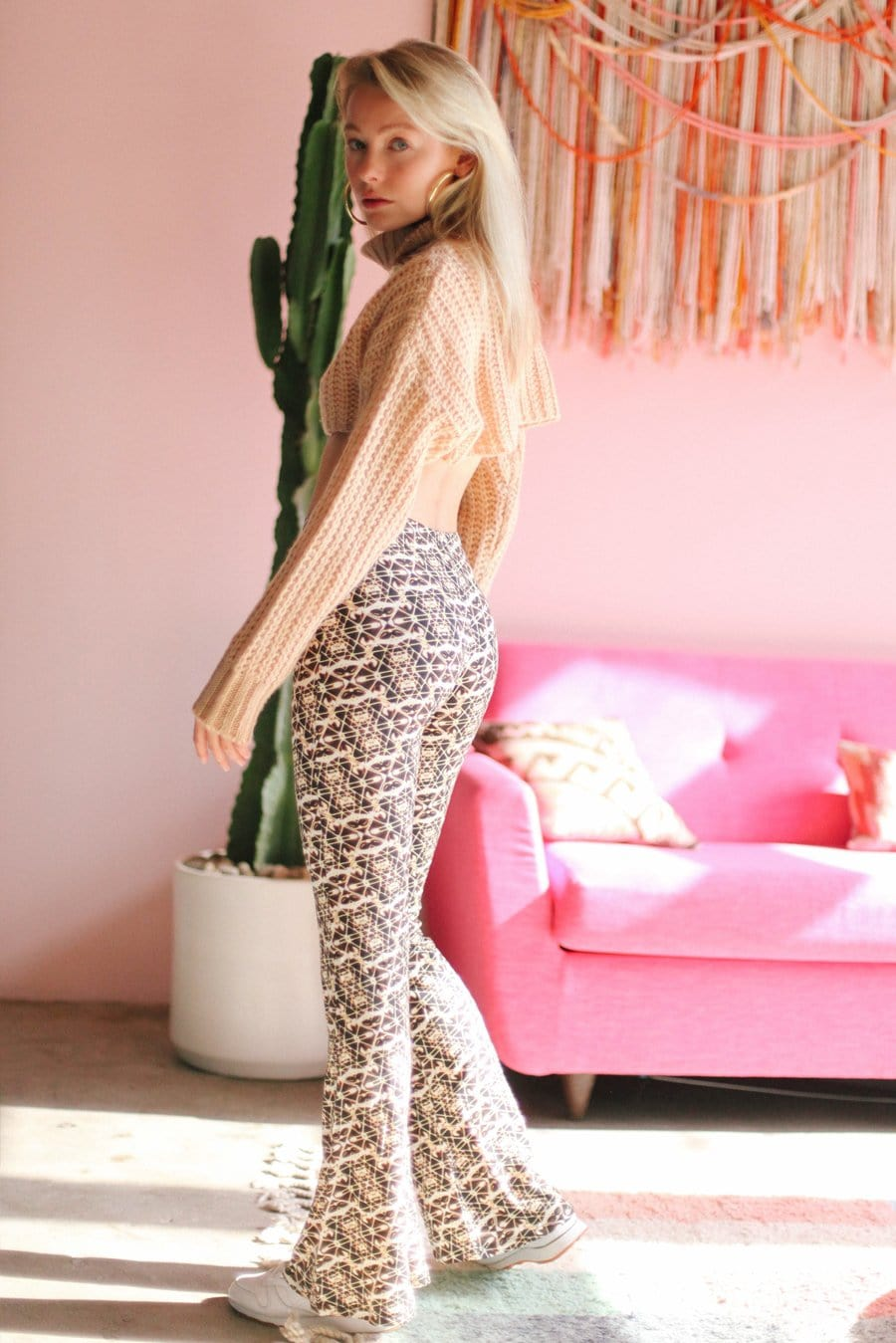Bali Gold Bell Bottoms