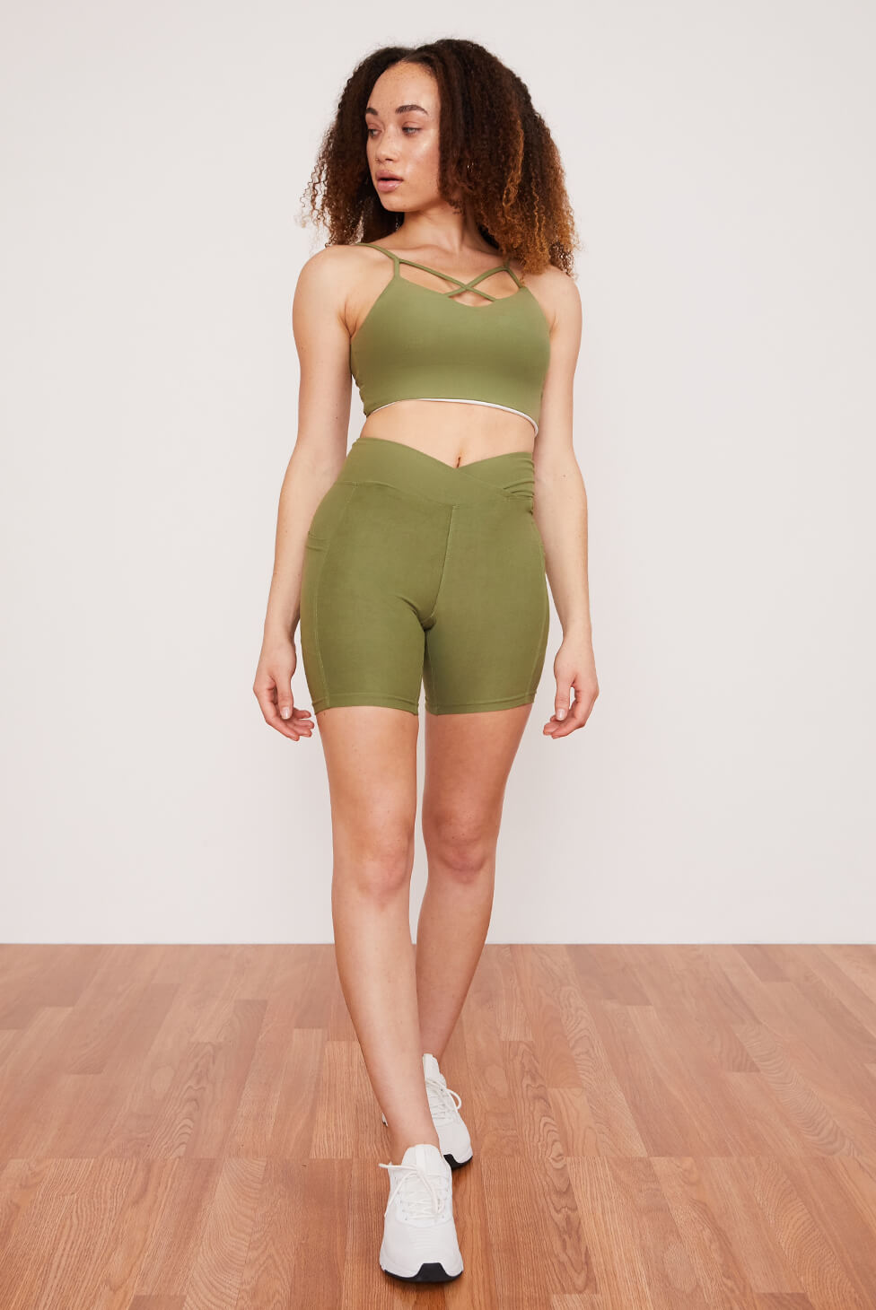 Midi Bike Short | Eucalyptus