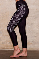 Floral Black Sustainable Legging