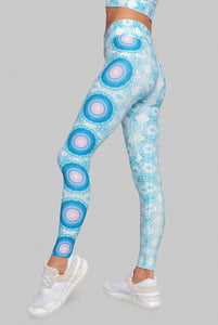 Wolven Sustainable Activewear Yoga High-Waisted legging purple blue mandala print