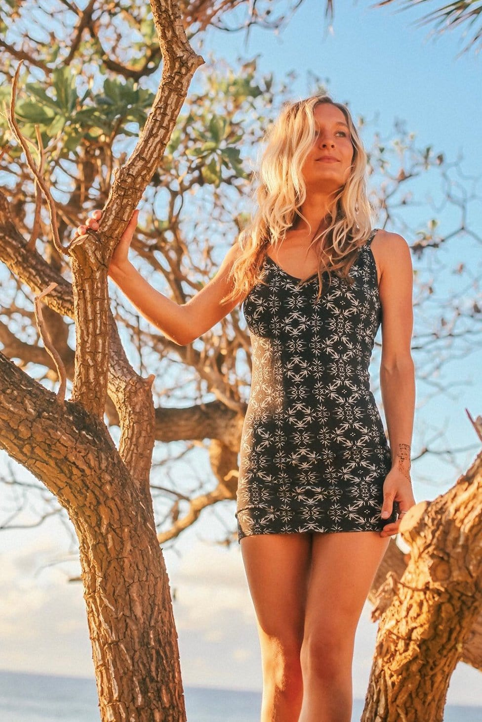 Liquid Onyx Mini Dress