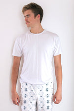 White Men's Crew Neck Tee