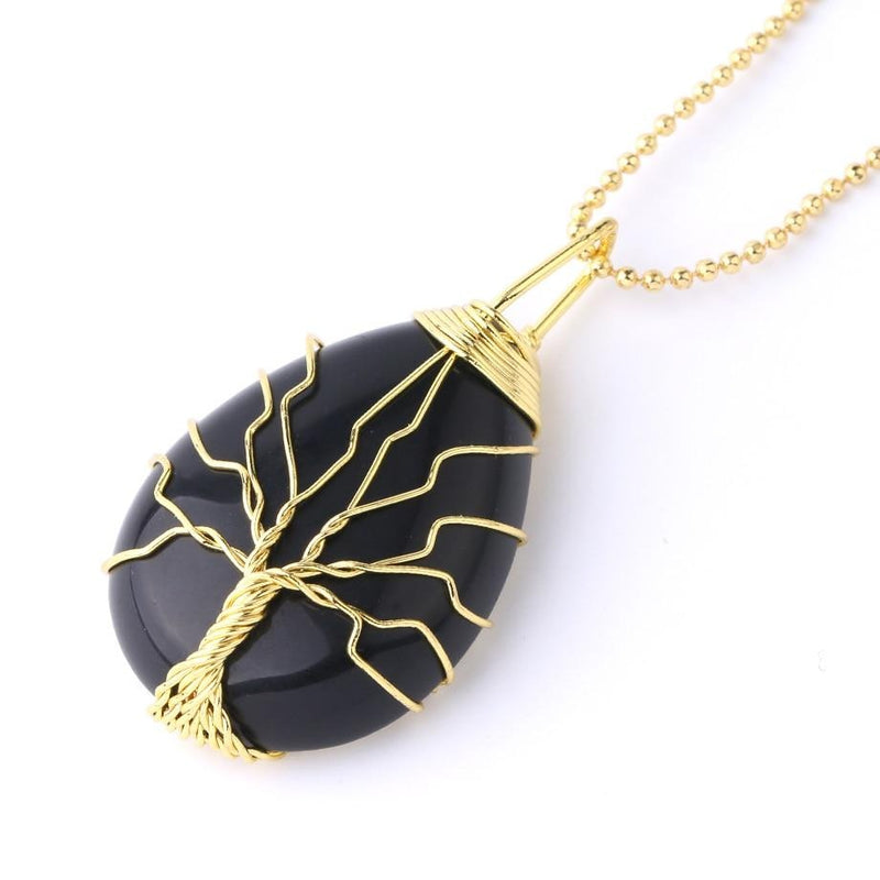 Tree of Life Necklace - Crystal Pendant