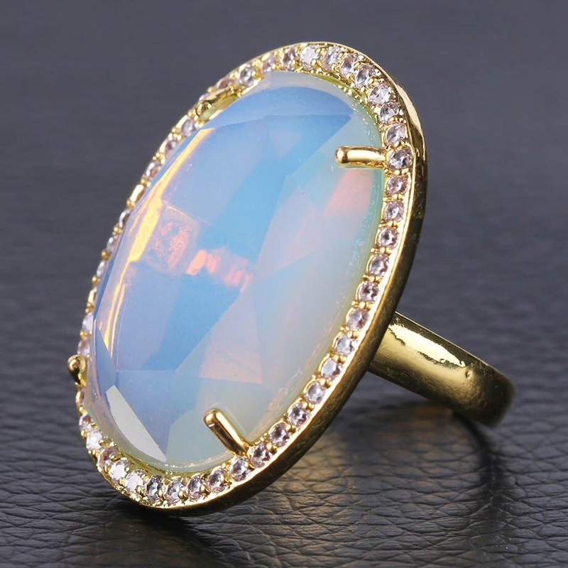 Prosperity Stud Ring - Crystal Ring